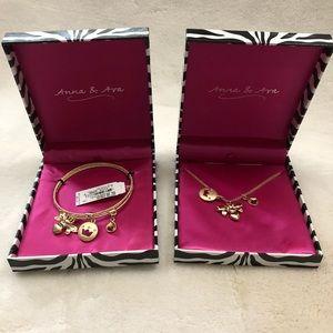Anna & Ava bracelet and necklace set